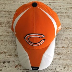 Fitted Orange & White Chicago Bears Hat